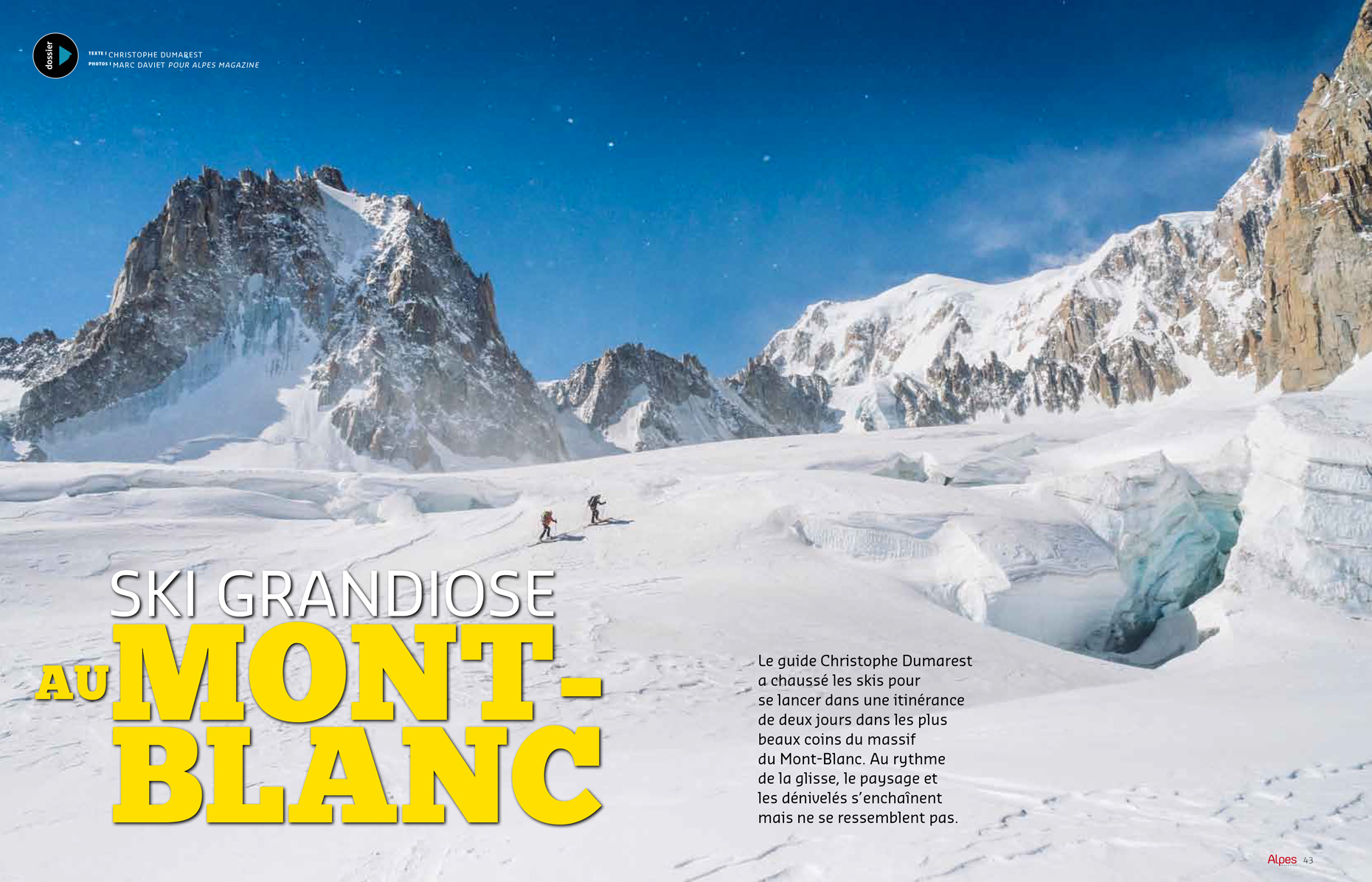 Alpes-Magazine 150-Ski MontBlanc - Marc Daviet Photography