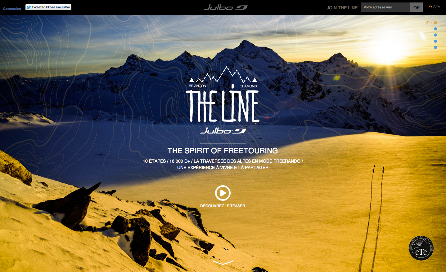Julbo - Website TheLine  - Marc Daviet Photography