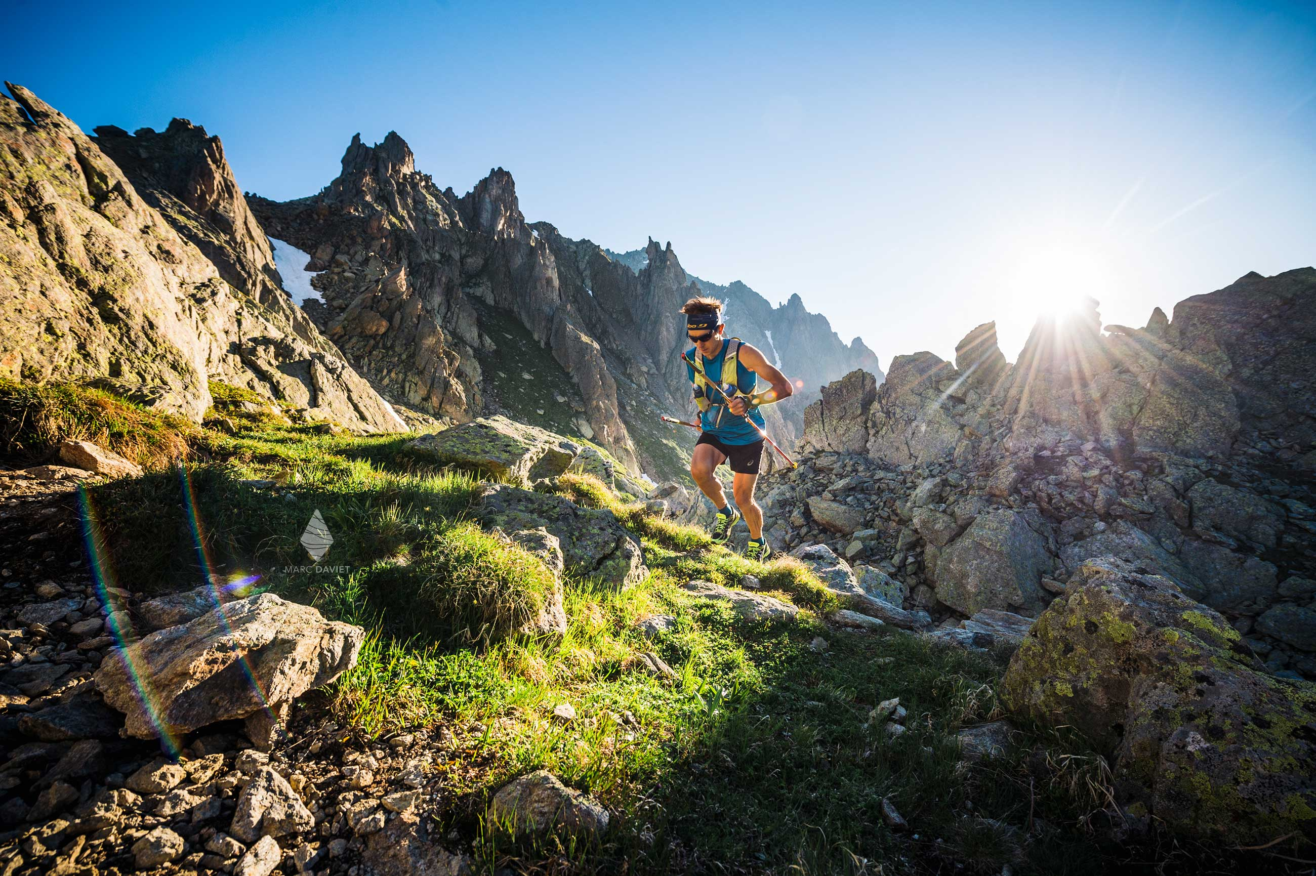 Trail running in Aiguilles rouges.
