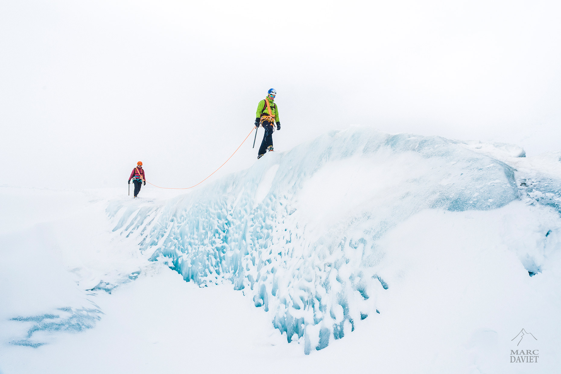 Walking on glacier - Marc Daviet Photography