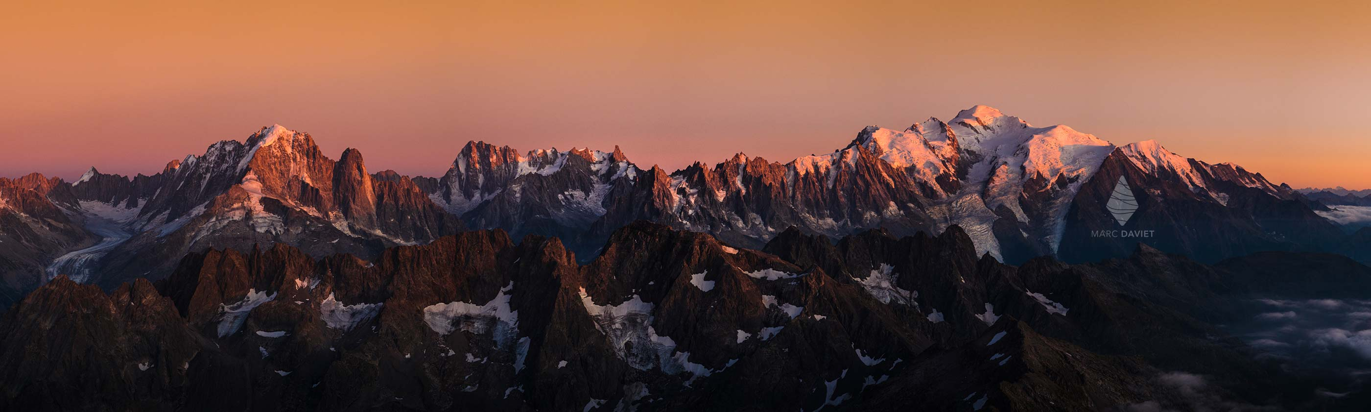 Mont-Blanc Massif at sunset