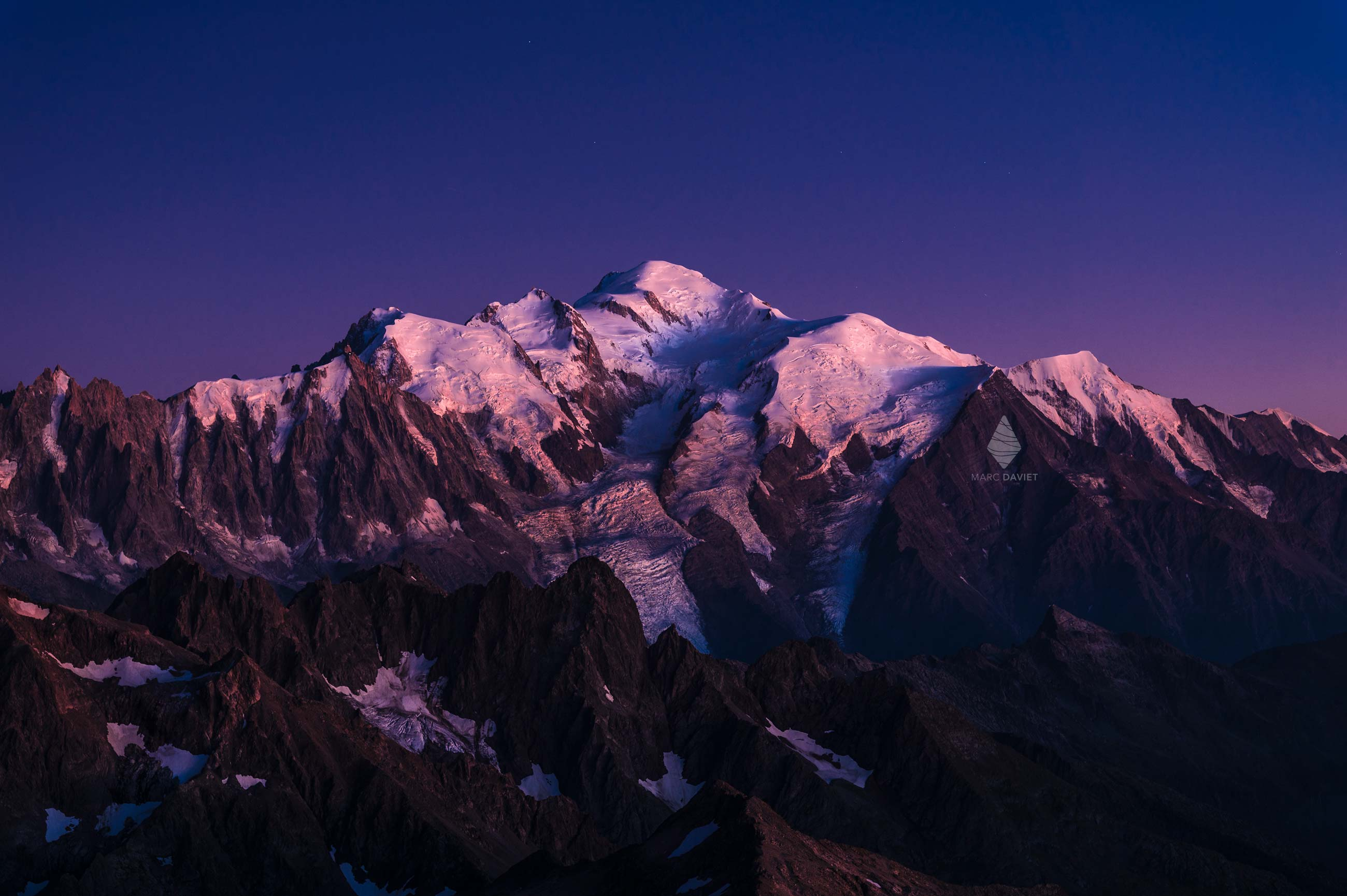 Mont-Blanc at twilight