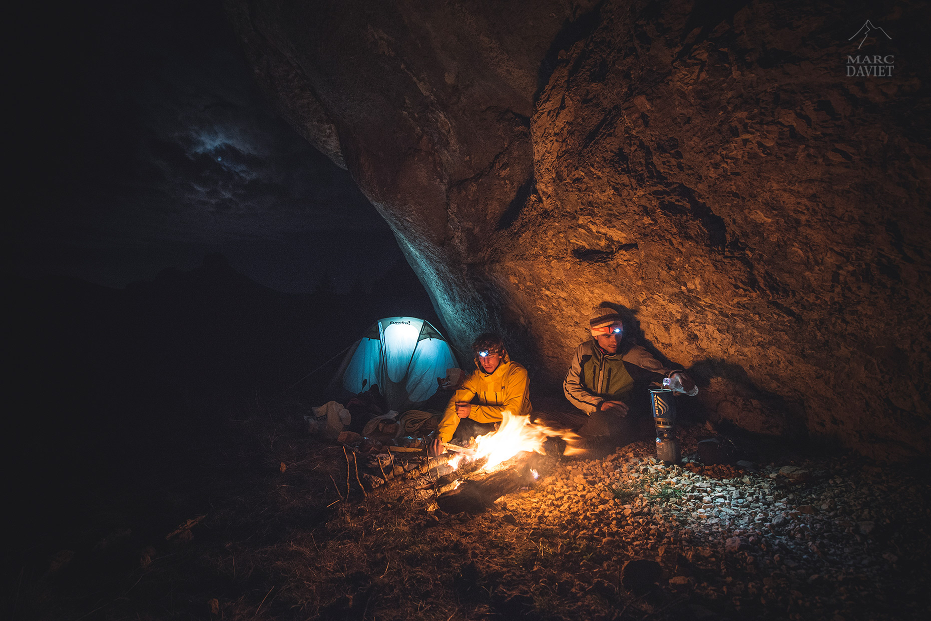 Bivy in mountain - Marc Daviet Photography