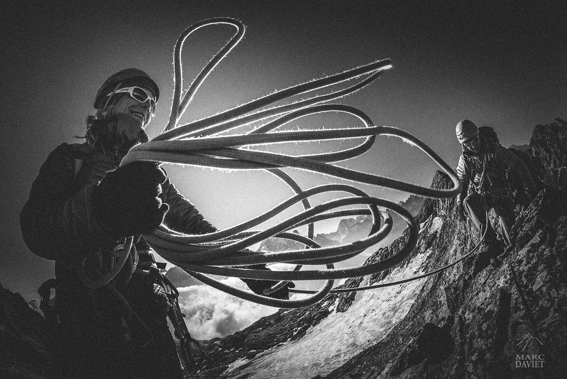 Rope and climbers - Marc Daviet Photography