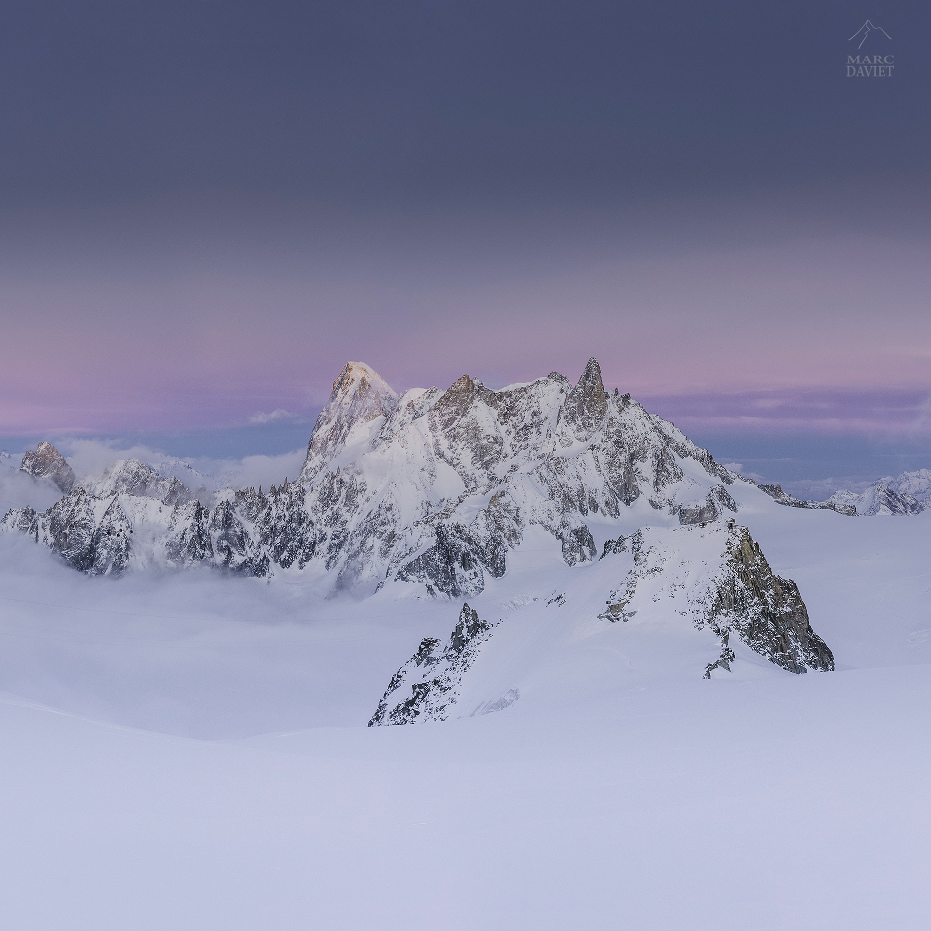 Grandes Jorasses and Dent of Géant - Marc Daviet Photography