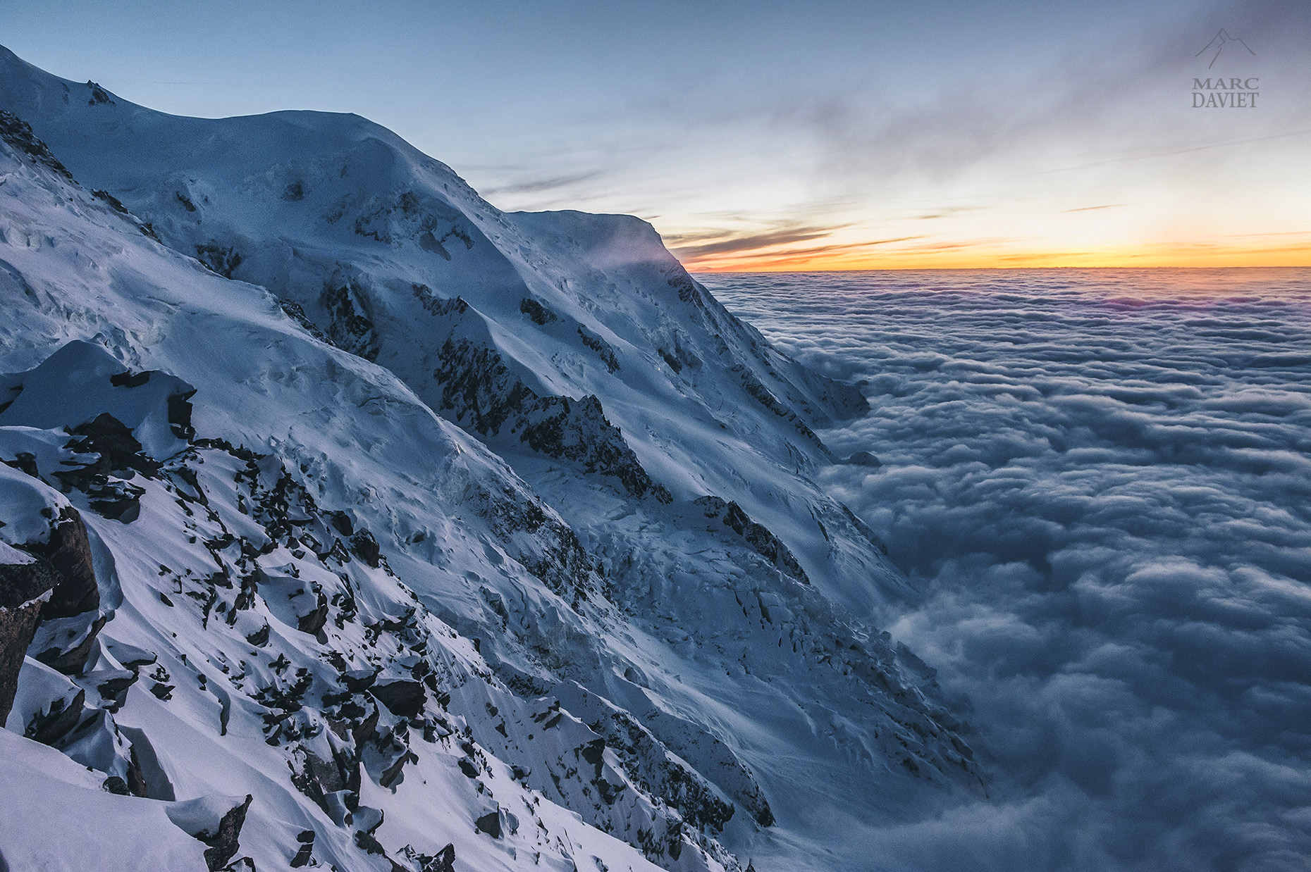 Sea of Clouds - Mont-Blanc  - Marc Daviet Photography