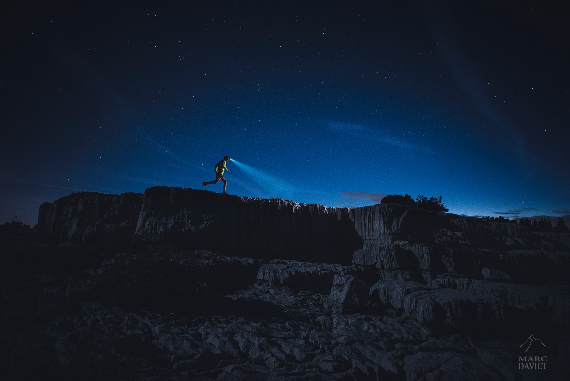 Kilian Jornet in the night - Marc Daviet Photography