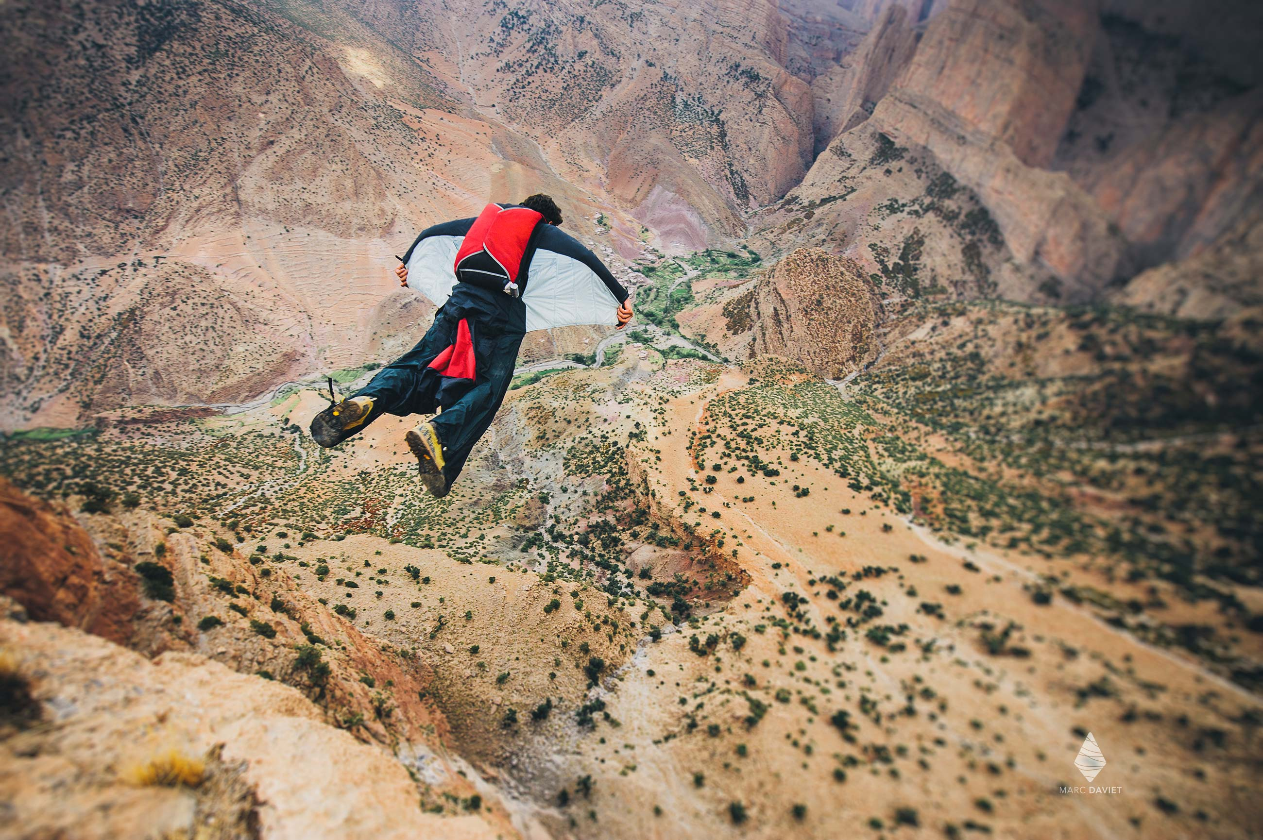 Base Jump - Taghia - Marc Daviet Photography