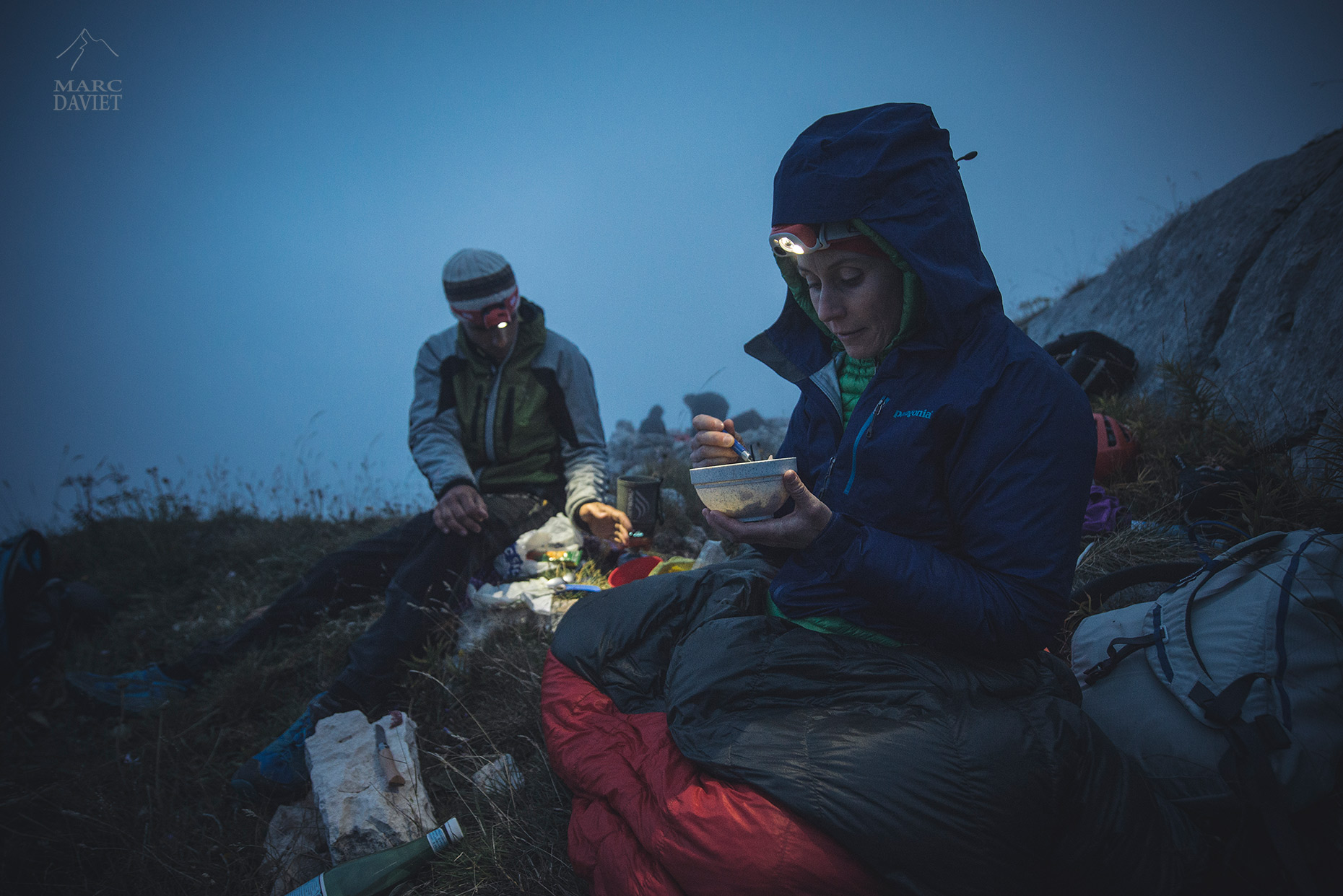 Dinner at bivy - Marc Daviet Photography