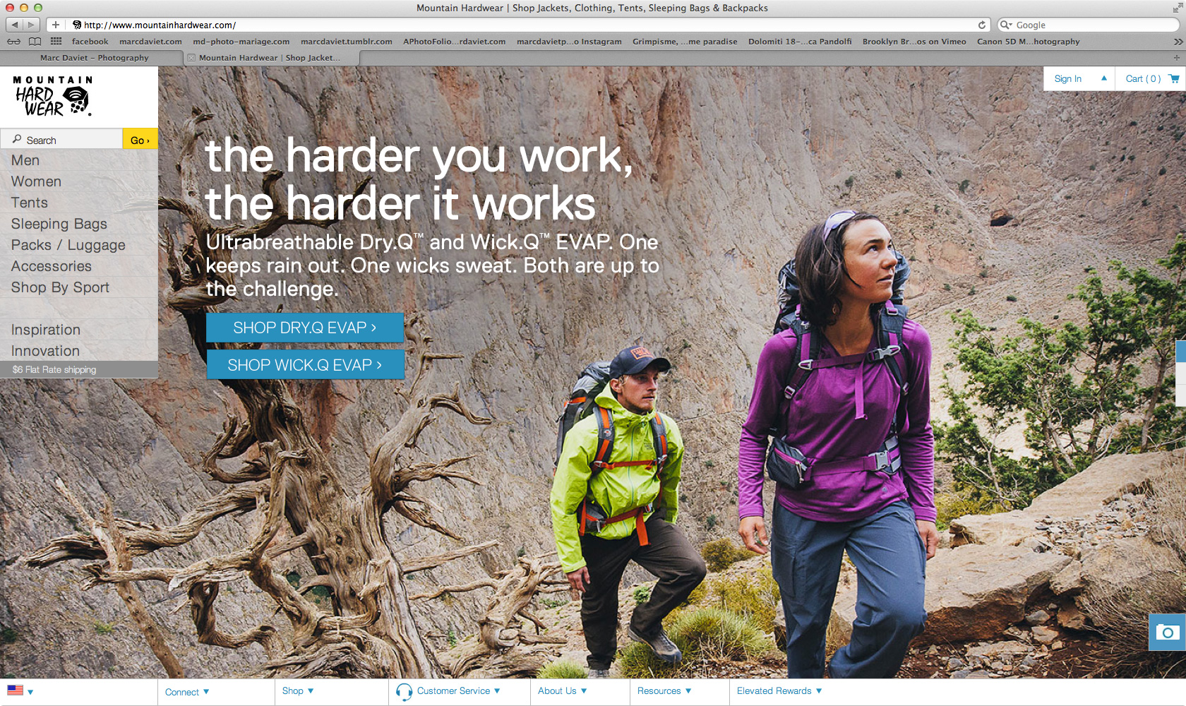 Mountain Hardwear - Website  - Marc Daviet Photography