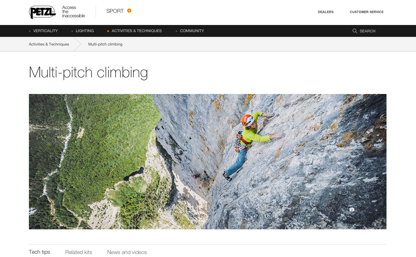Petzl - Sport website  - Marc Daviet Photography
