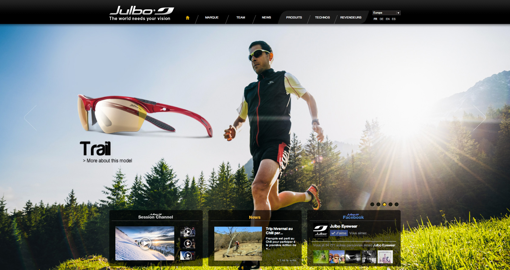 Julbo - Website  - Marc Daviet Photography
